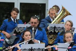 Zdjęcie, orkiestra dęta w trakcie koncertu