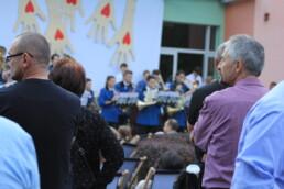 Zdjęcie, publiczność w trakcie koncertu orkiestry dętej