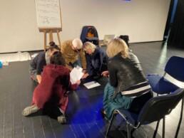 Zdjęcie, uczestnicy szkolenia w trakcie wykonywania zadania