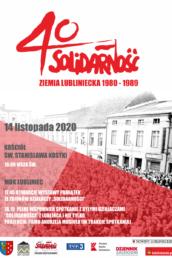 Plakat promujący wydarzenie obchodów 40-lecia