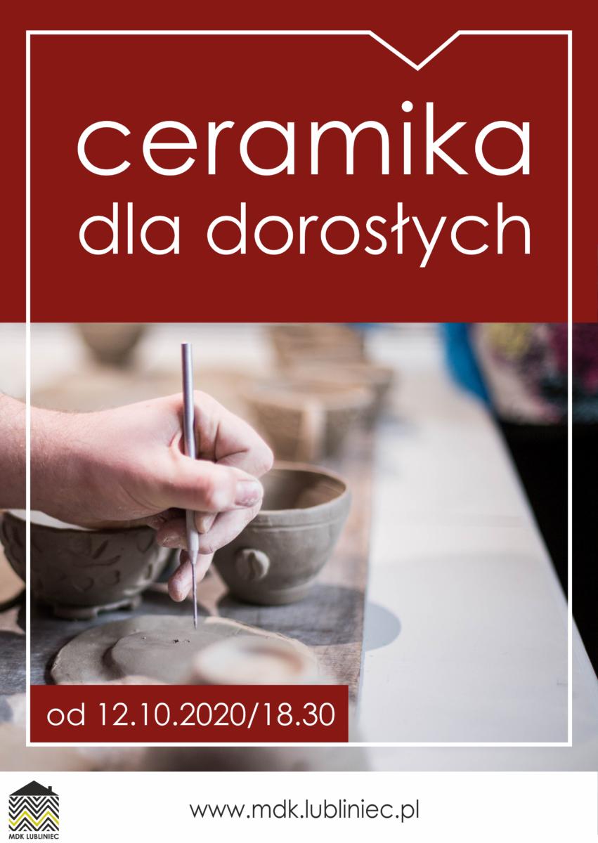 Grafika promująca warsztaty ceramiczne dla dorosłych