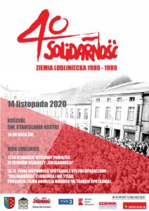 """Plakat promujący wydarzenie obchodów 40-lecia """"Solidarności"""""""